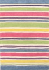 Kidding Around Striped Kid's Rug - Gelato