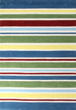 Kidding Around Striped Kid's Rug - Multi