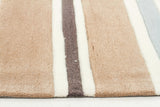 Kidding Around Striped Kid's Rug - Taupe