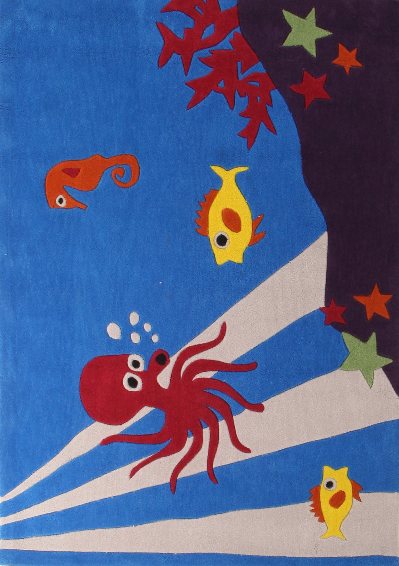 Kidding Around Under Water Theme Rug - Blue