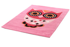Kidding Around Owl Kids Rug - Pink