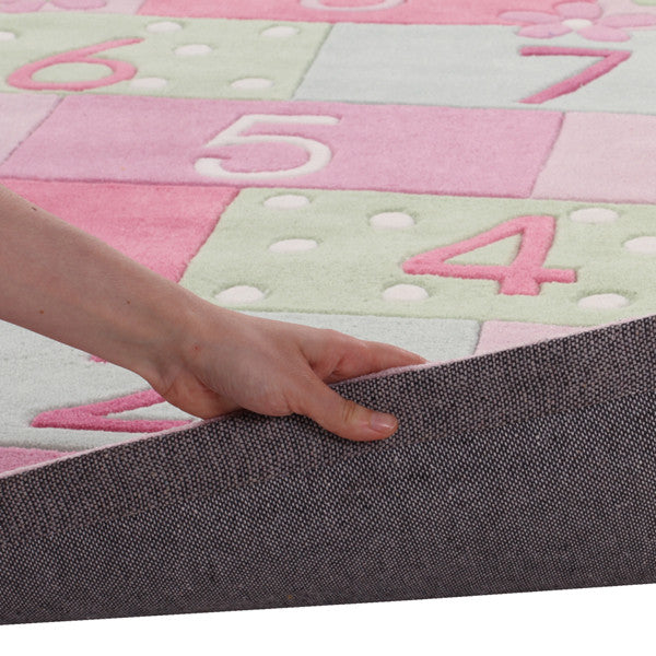Kidding Around Hopscotch Rug - Pink