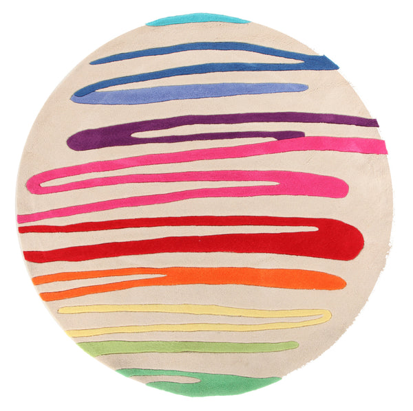 Kidding Around Paint Strokes Rug - Cream