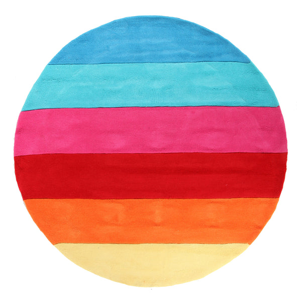 Kidding Around Rainbow Rug - Pink