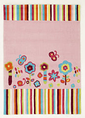 Kidding Around Floral Patterned Rug - Pink