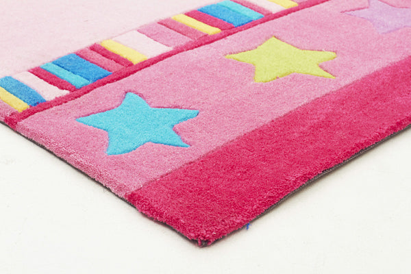 Kidding Around Pretty Girls Crown Rug - Pink