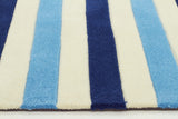 Kidding Around Nautical Stripes Rug - Blue