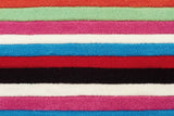 Kidding Around Multi Coloured Stripe Rug -