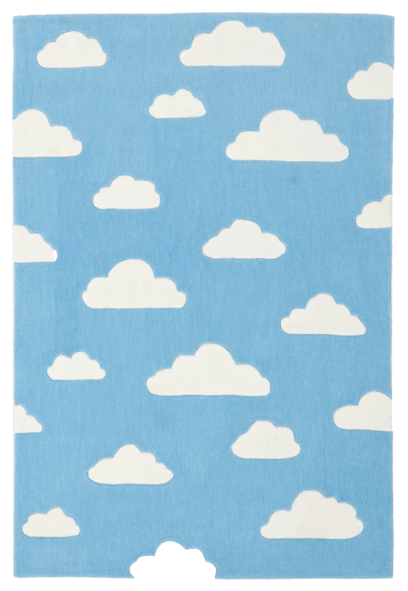 Kidding Around Clouds Rug - Blue