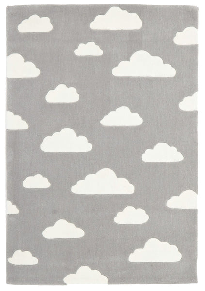 Kidding Around Clouds Rug - Grey