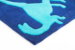 Kidding Around Dinosaurs Rug - Blue