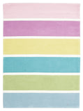 Kidding Around Pastel Banded Stripes Rug - Multi Coloured