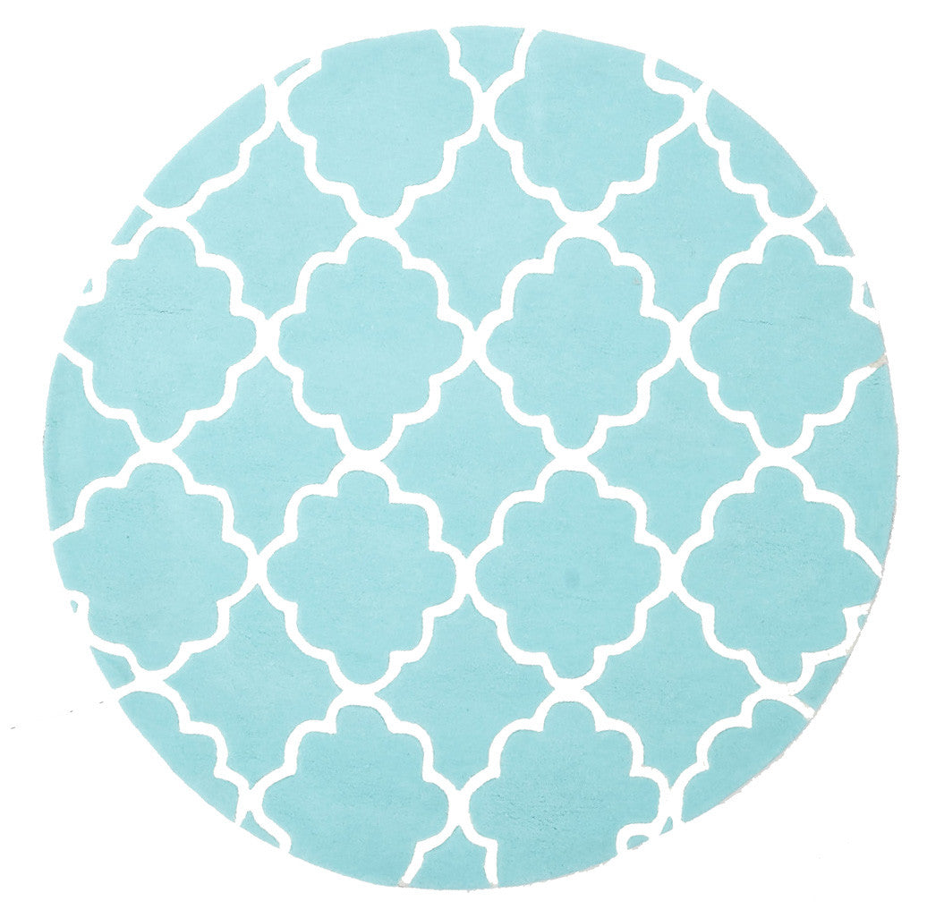 Kidding Around Trellis Design Rug - Soft Blue