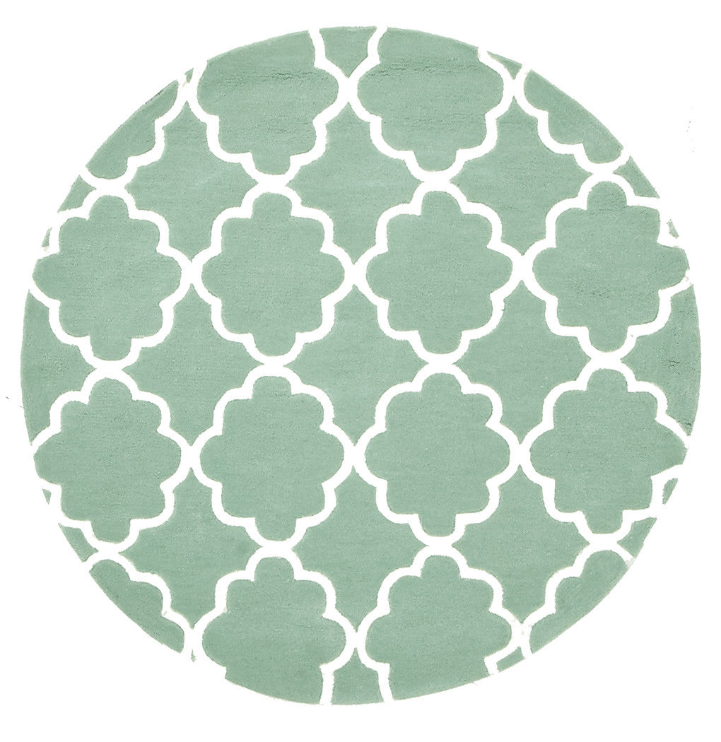 Kidding Around Trellis Design Rug - Sea Foam Green