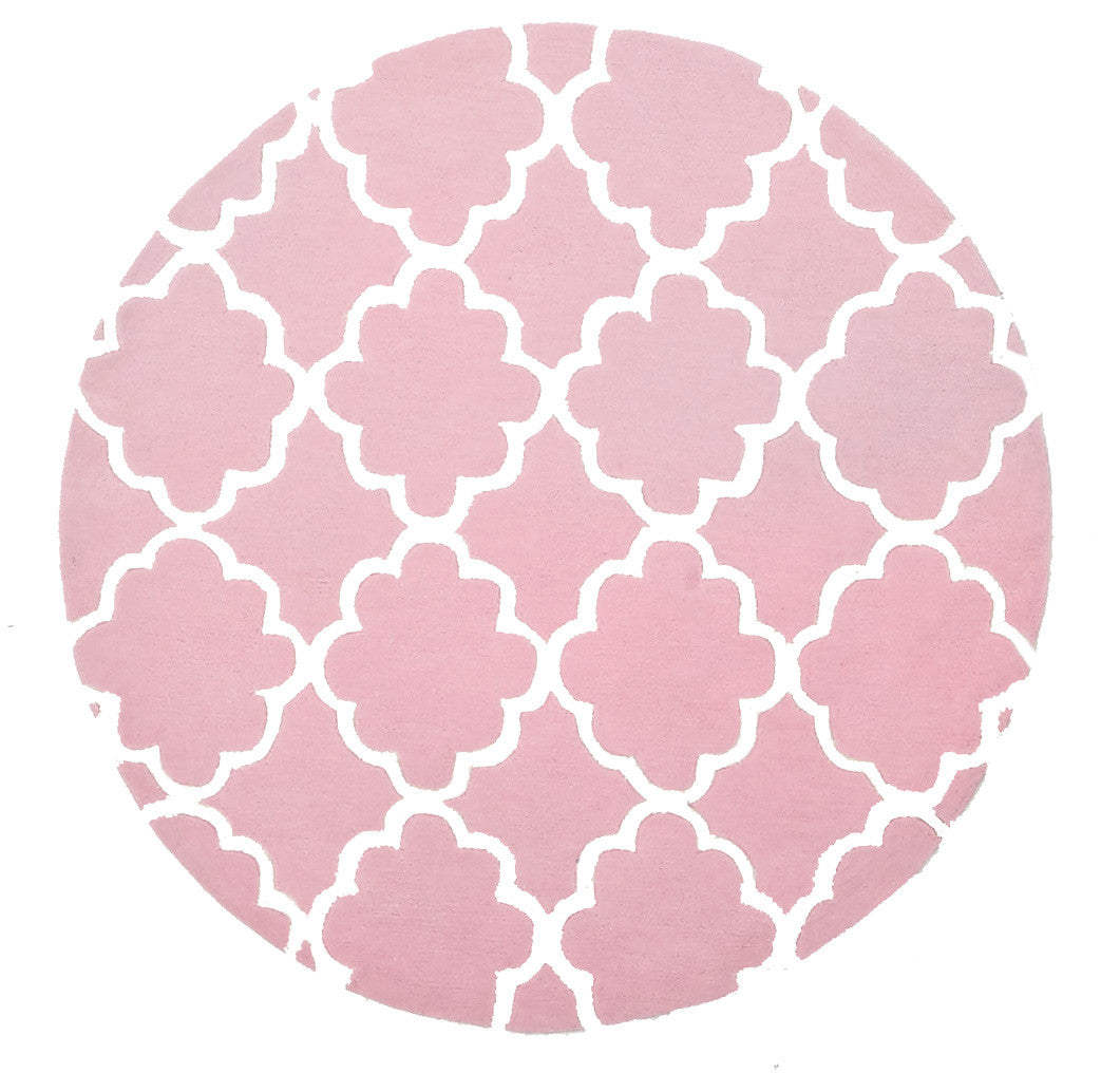 Kidding Around Trellis Design Rug - Pink