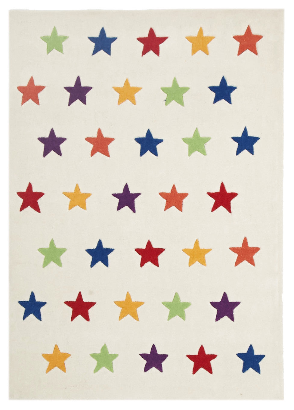 Kidding Around Twinkle Twinkle Star Rug - White