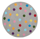 Kidding Around Dots Design Rug - Grey