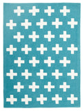 Kidding Around Nordic Crosses Rug - Blue
