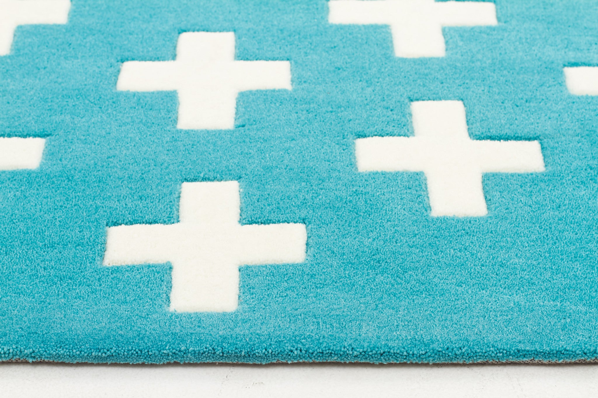 Nordic Crosses Rug Blue