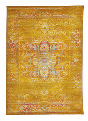 Overdyed Classic Style Rug Gold