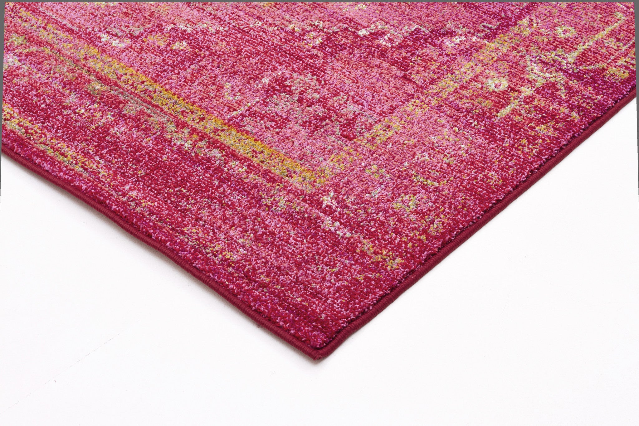 Overdyed Classic Style Rug Red