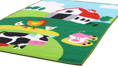 Little Circus Non Slip Kids Rug - Barn Yard Farm