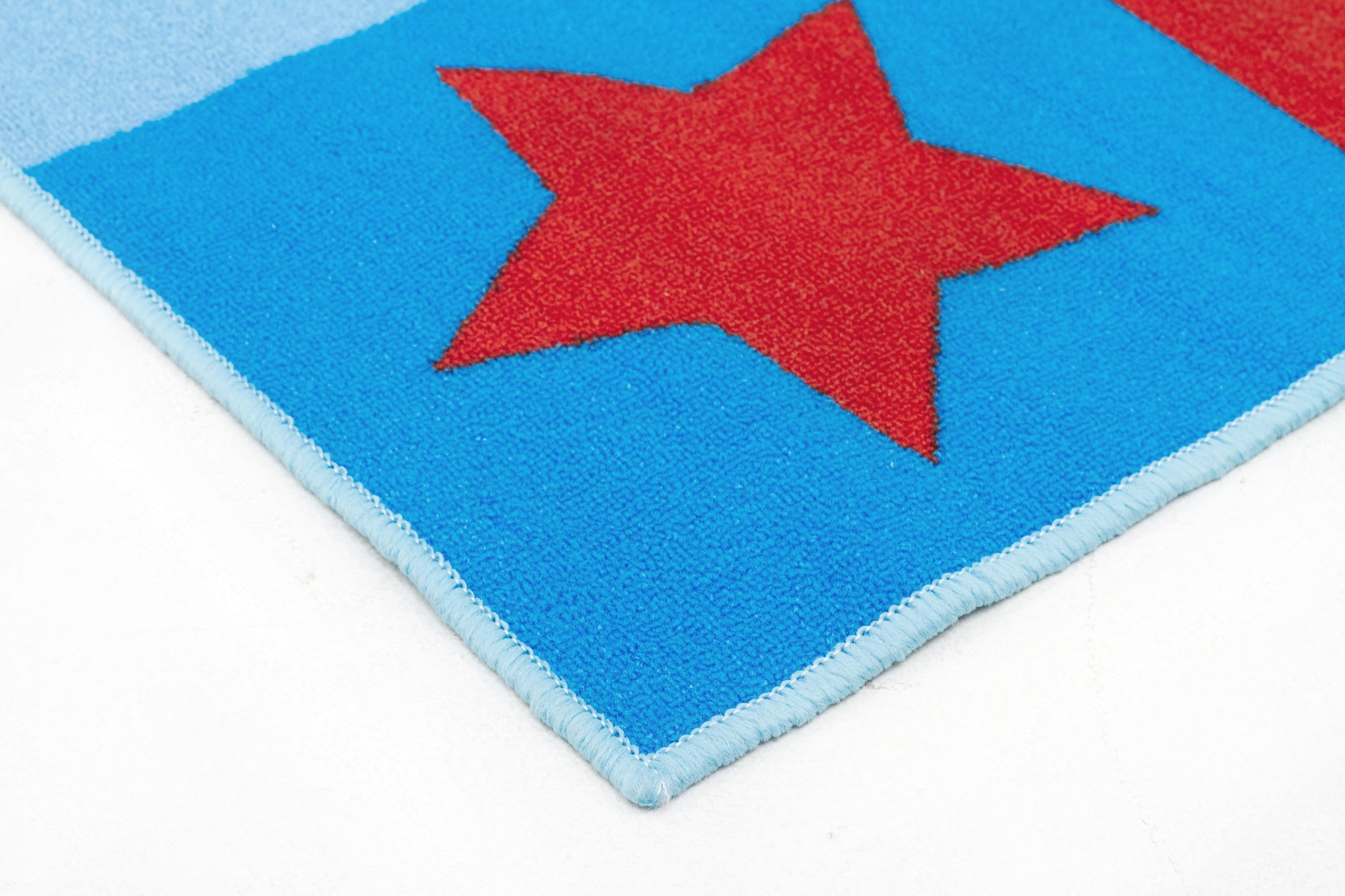 Little Circus Non Slip Kids Rug - Numbers Blue