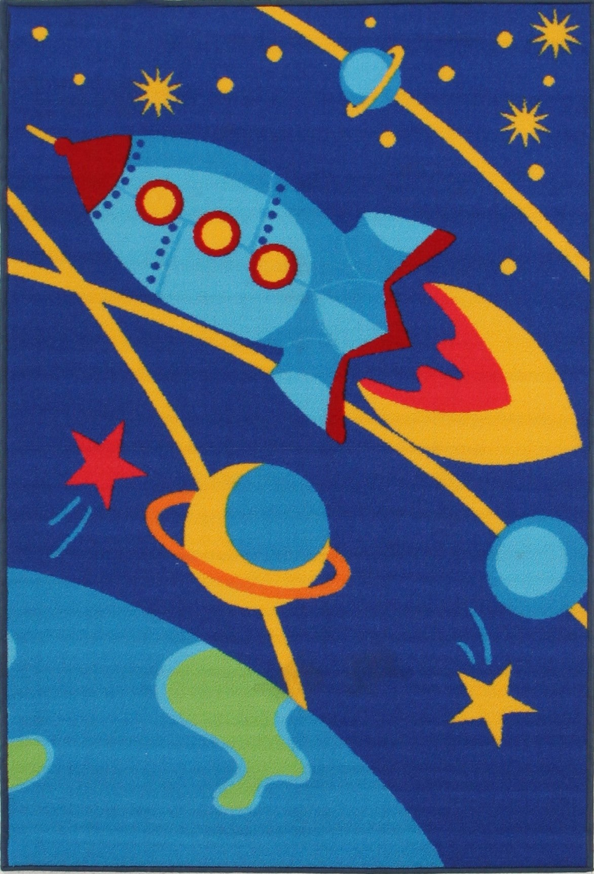 Kids Non Slip Outer Space Rug