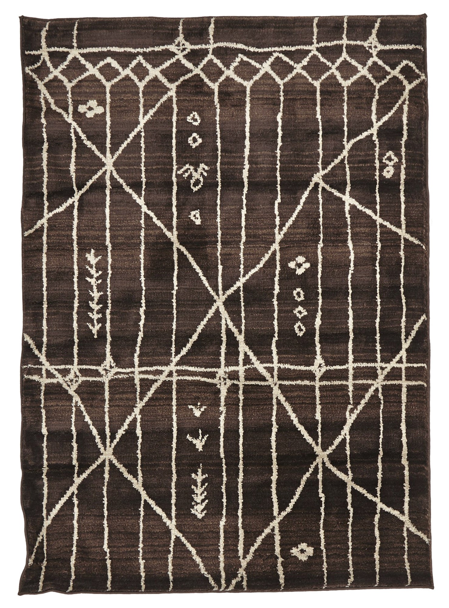 Moroccan 176 Rug - Chocolate