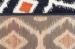 Indoor Outdoor Bianca Rug Navy Orange