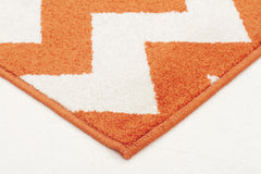 Indoor Outdoor Zig Zag Rug Orange