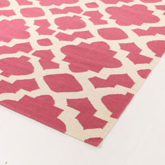 Nomad 17 Flat Weave Rug - Pink White
