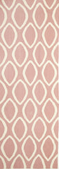 Flat Weave Oval Print Rug Pink