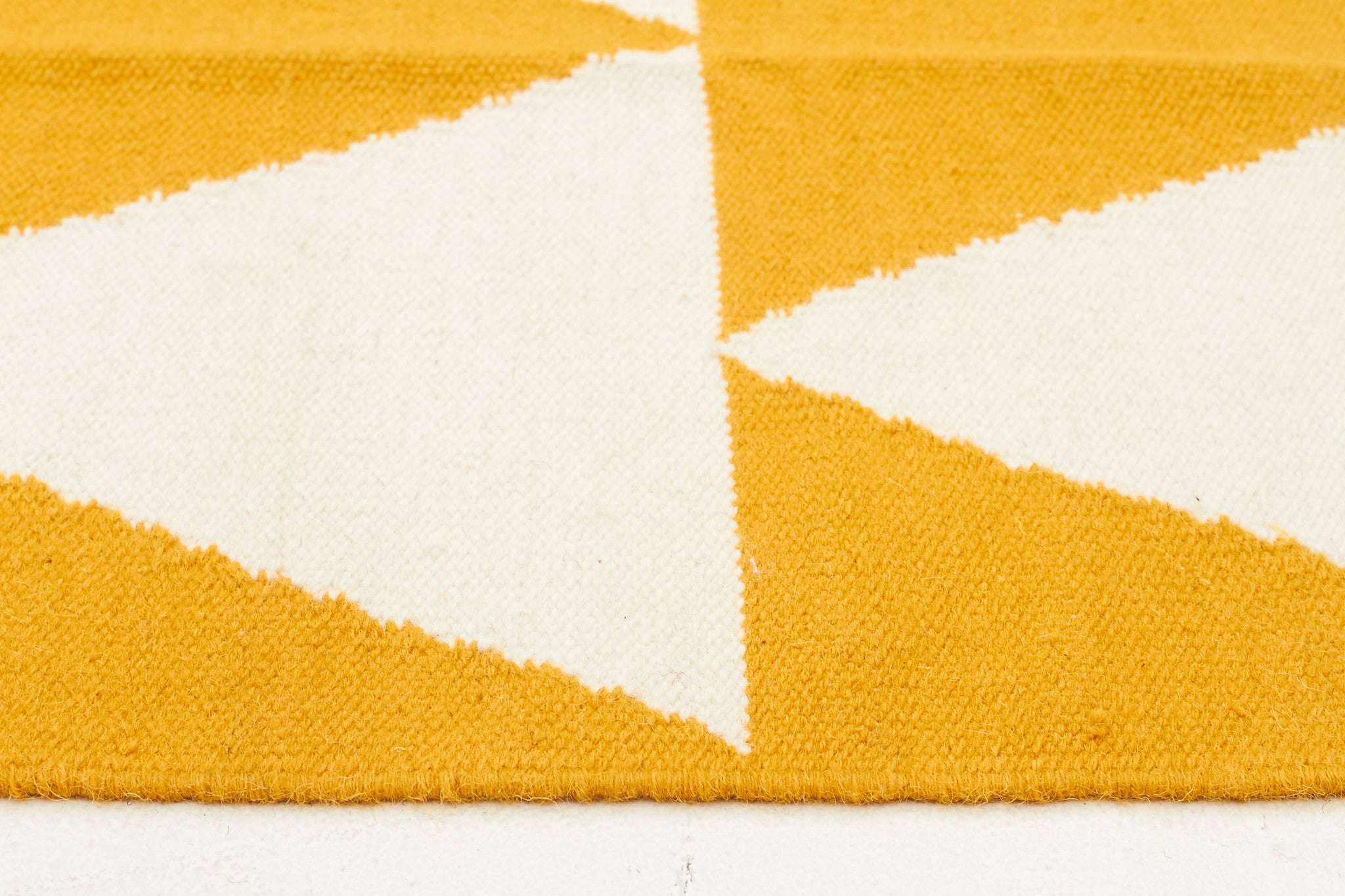Nomad 26 Flat Weave Rug - Yellow