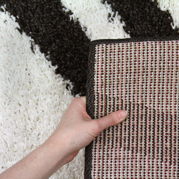 Notes 4 Shaggy Rug - Charcoal White