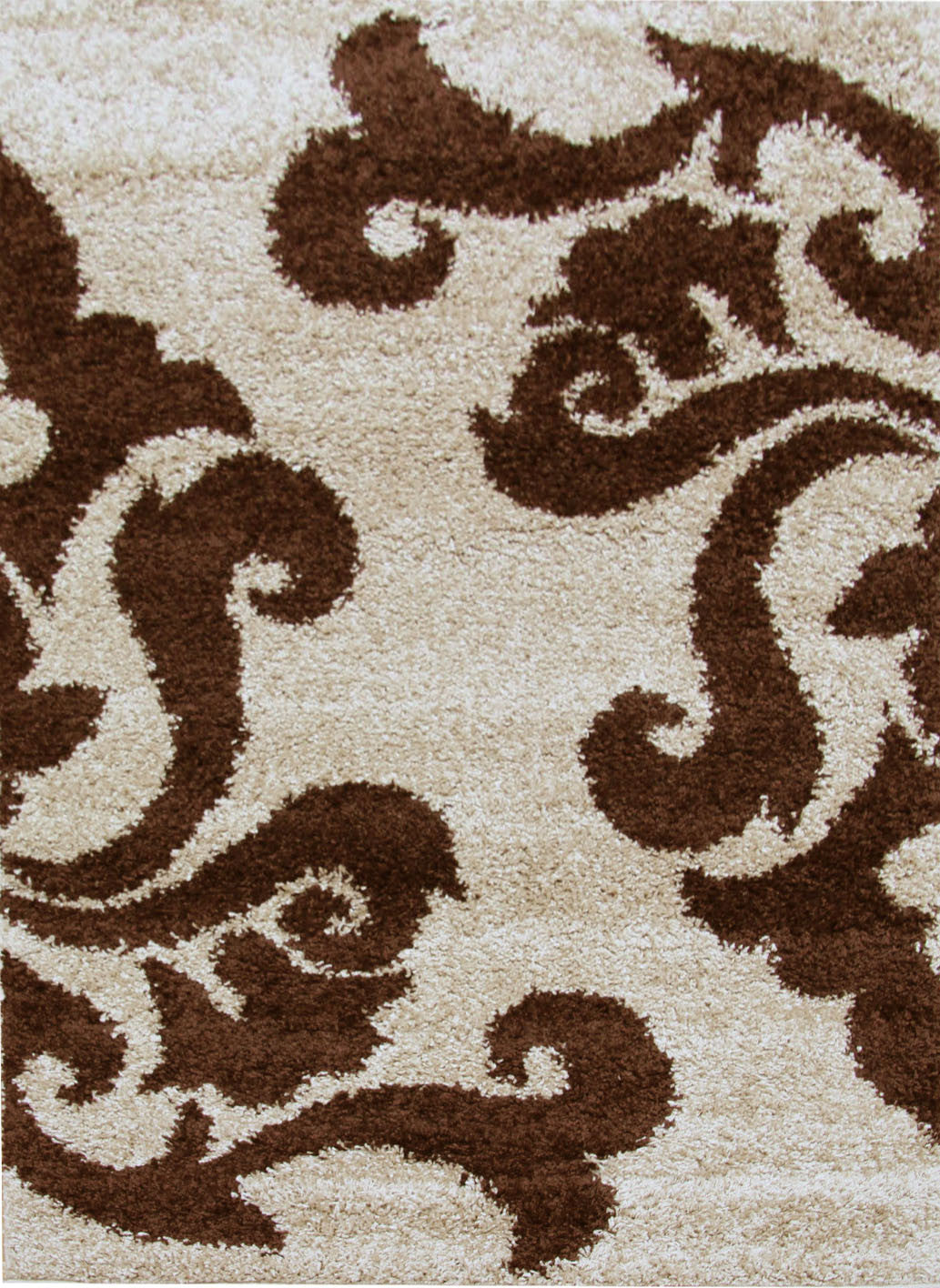 Notes 5 Shaggy Rug - Beige Brown