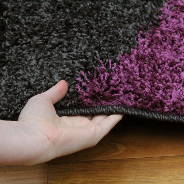 Notes 7 Rug - Charcoal Purple