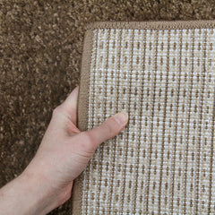 Notes Plain Shaggy Rug - Dark Beige
