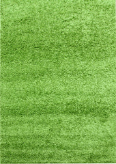 Notes Plain Shaggy Rug - Green