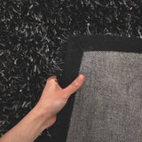Metallic Thick, Thin Shag Rug Charcoal