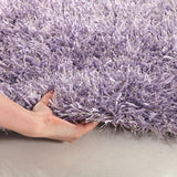 Metallic Thick, Thin Shag Rug Lilac