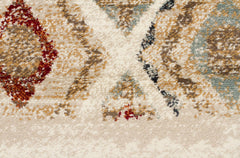 Oxford Contrast Rug - Rust