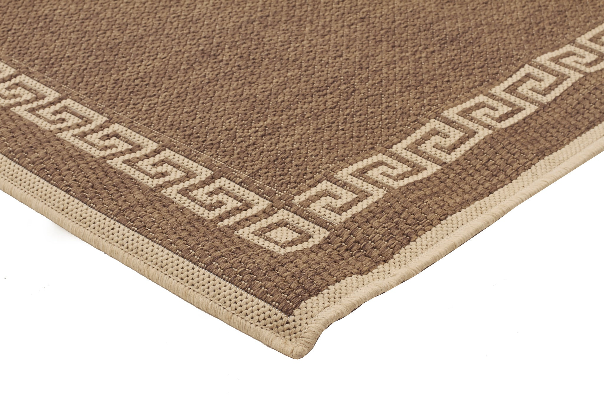 Indoor Outdoor Key Design Rug Brown