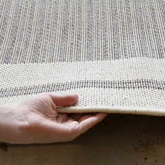 Indoor Outdoor Border Design Rug Cream