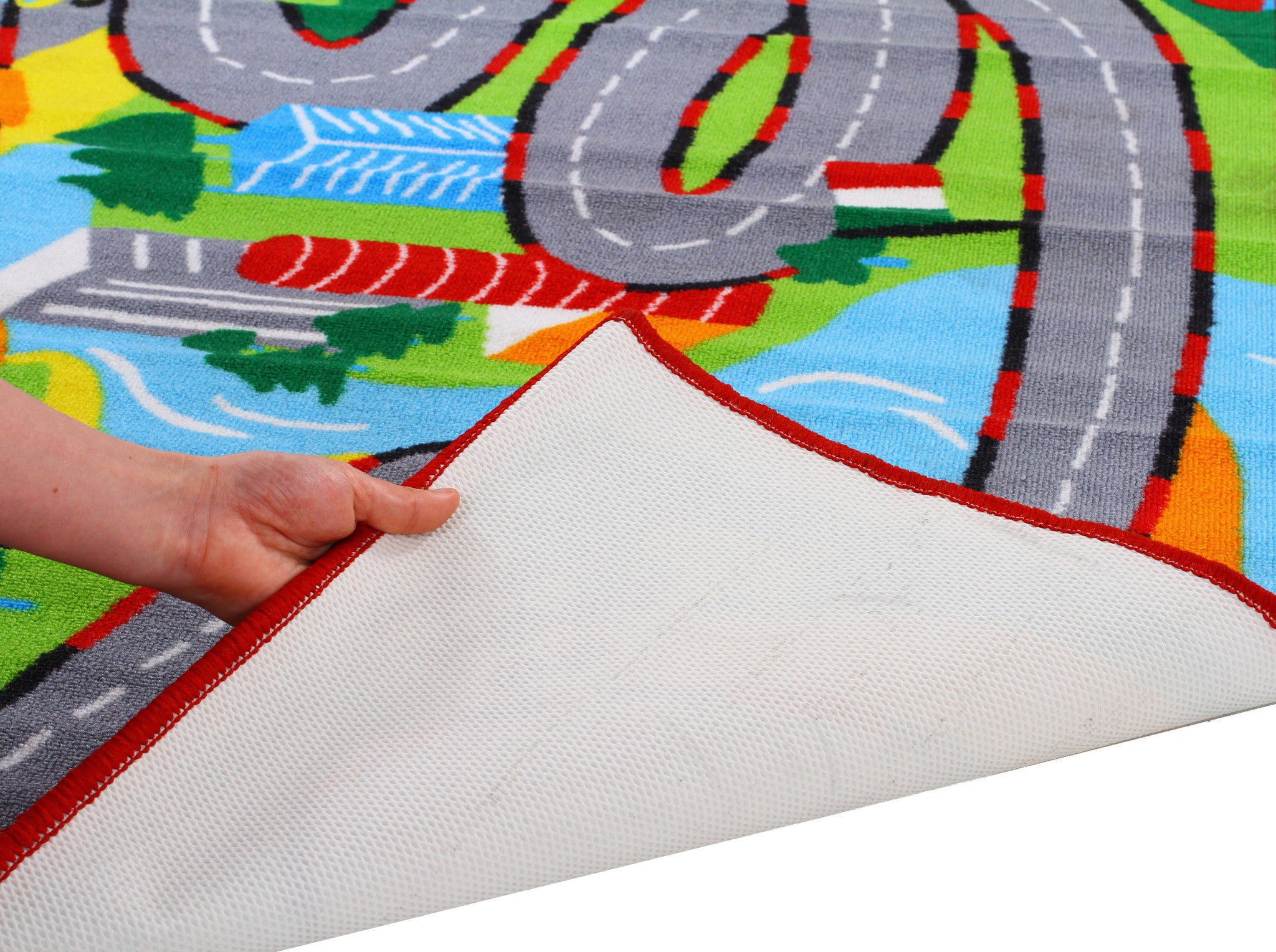 Little Circus Non Slip Road Map Rug - Track