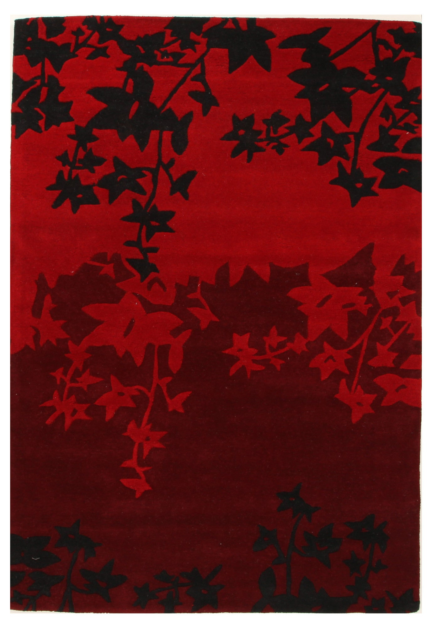 Sari Autumn Wool Rug - Red Black