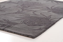 Designer Wool Rug Dusk Grey Charcoal