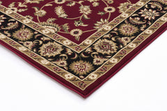 Classic Rug Red with Black Border