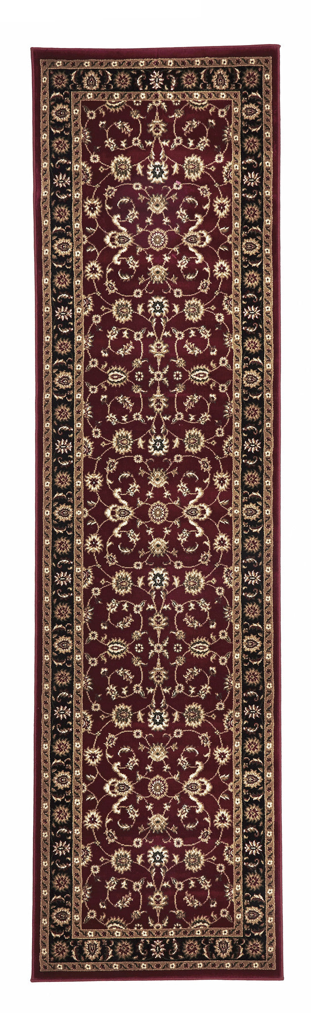 Sydney 1 Rug - Red with Black Border