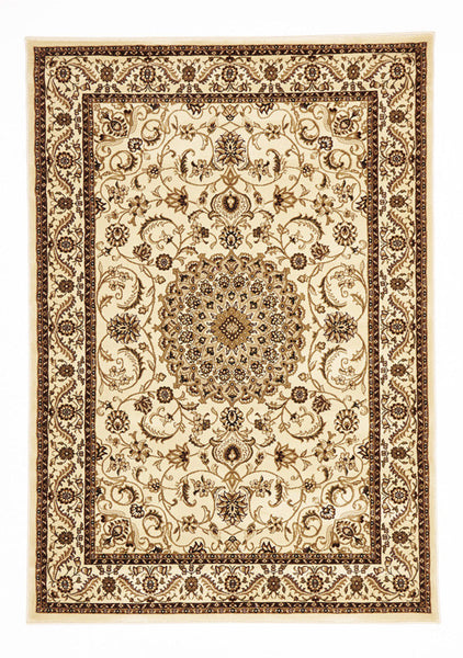 Medallion Rug Ivory with Ivory Border